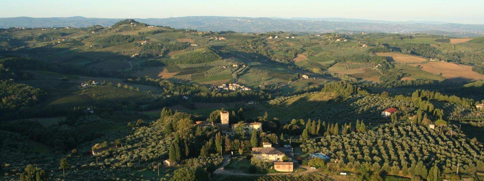Experience hot air ballooning over Tuscany