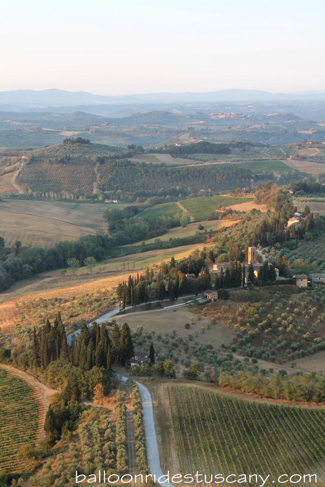 Tuscan landscape from the balloon