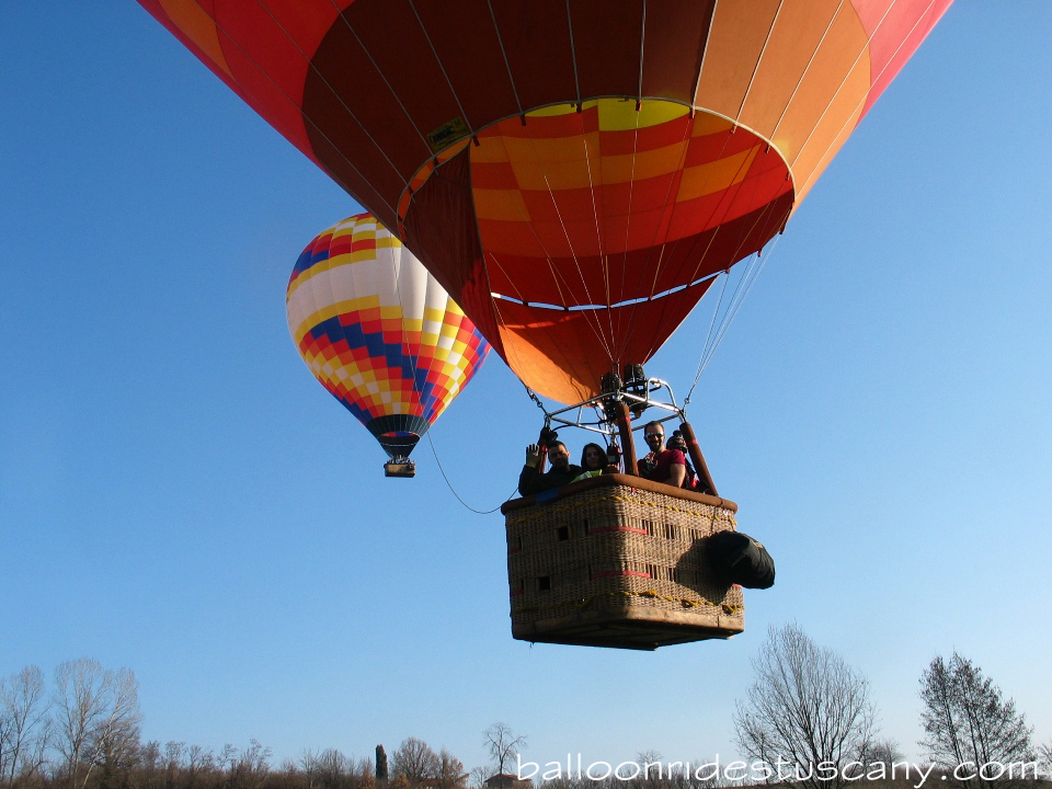 off we go with the balloons