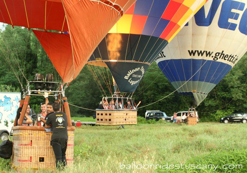 balloons taking off