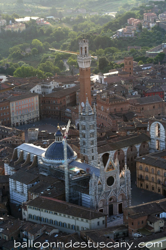 Duomo and Campanile Siena from balloon