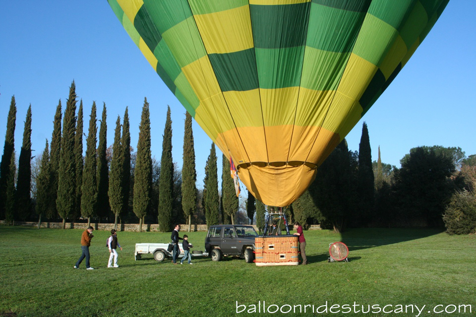balloon getting ready for takeoff