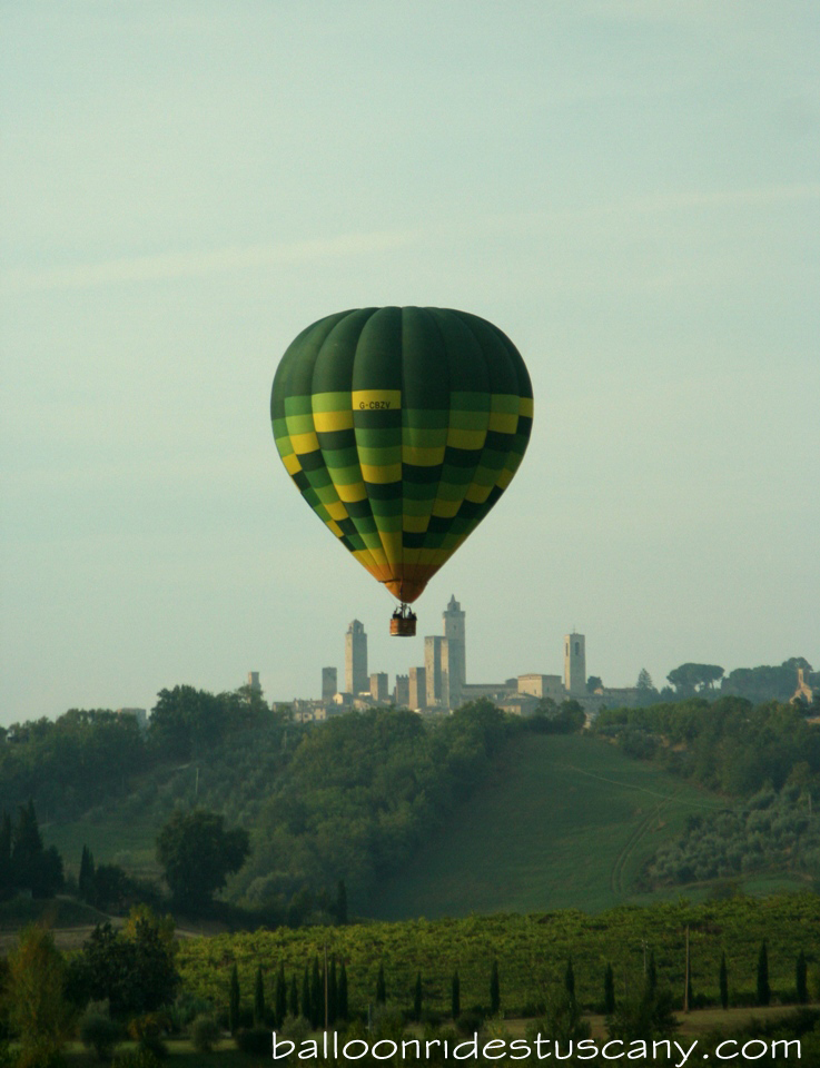 balloon rides in San Gimignano