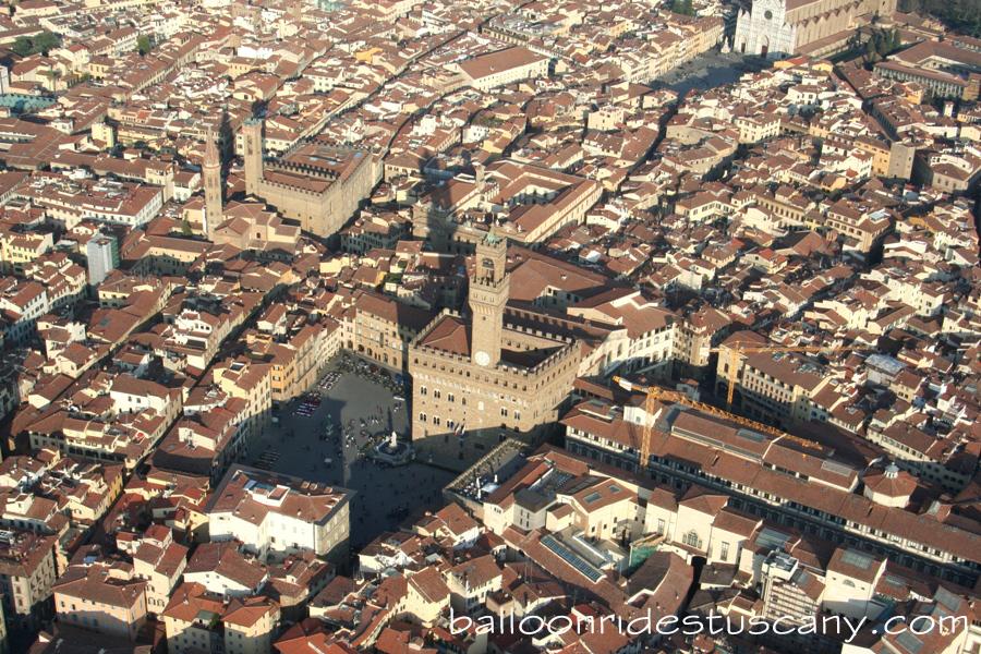 Palazzo Vecchio from the balloon