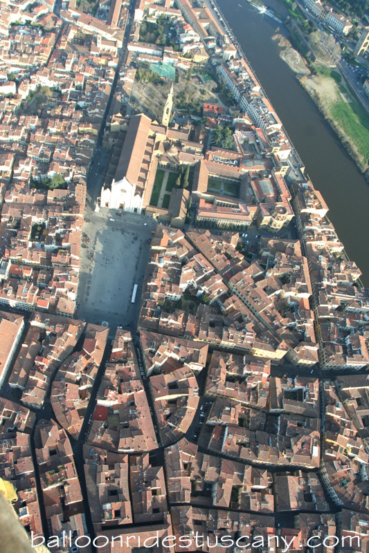 Santa Croce from the balloon