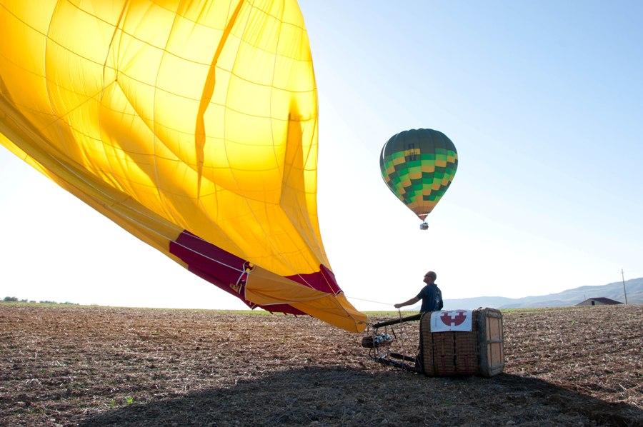 balloon landing Matera