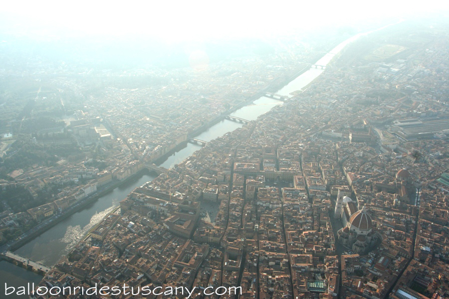 Ballooning over Florence