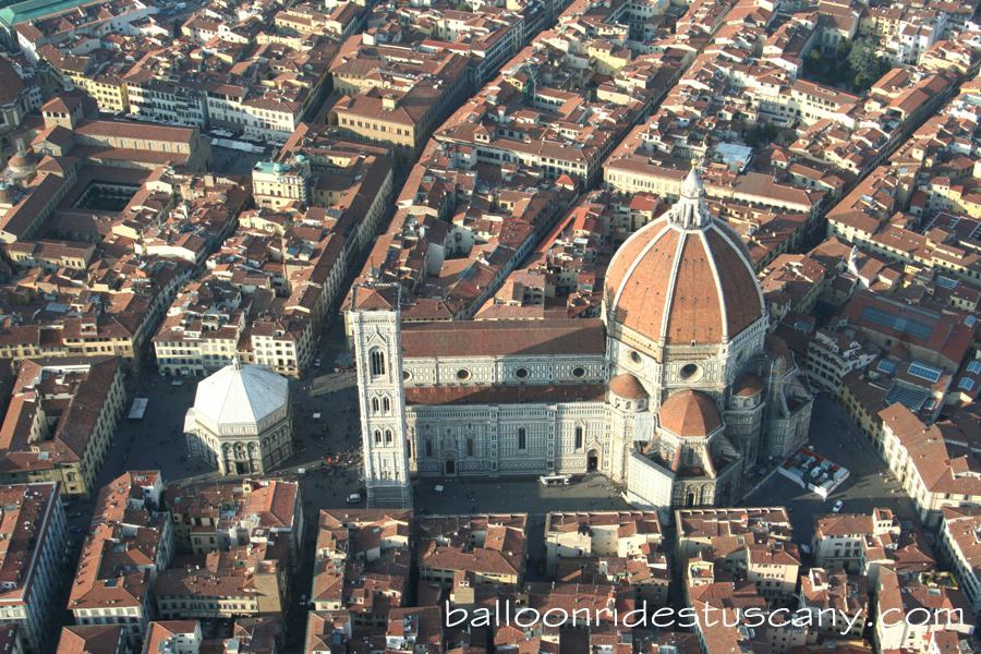 la cupola del Brunnelleschi from the balloon
