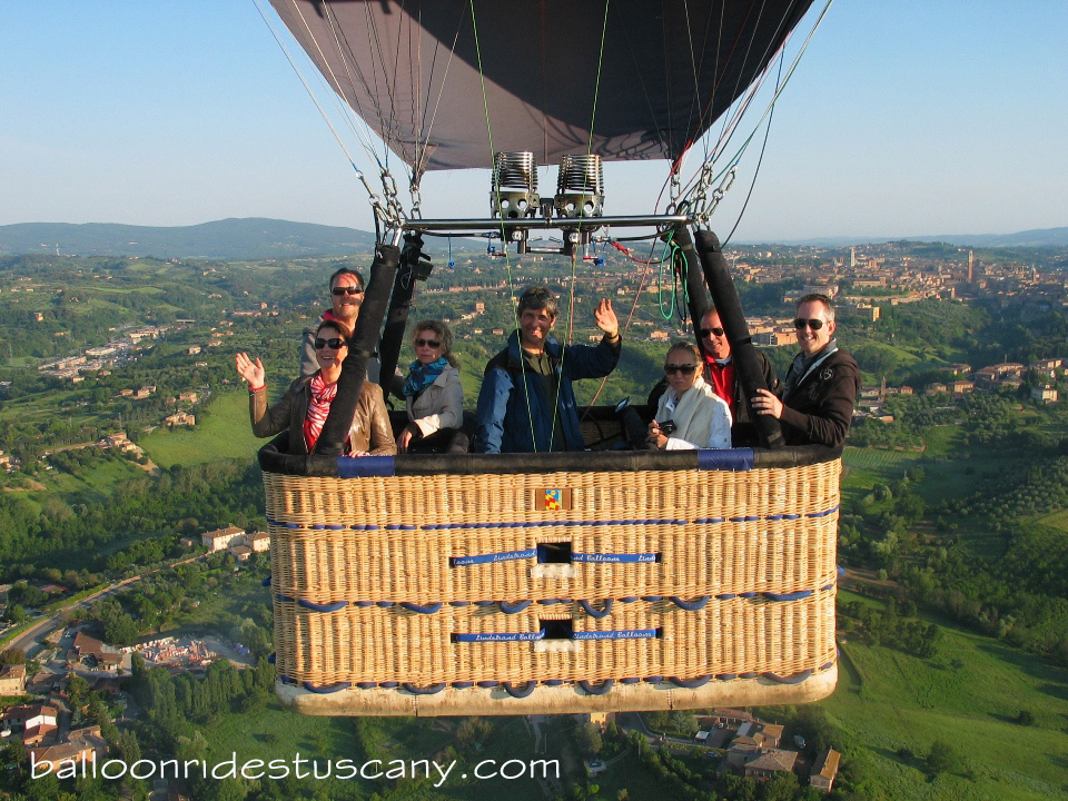 Balloon ride over Siena