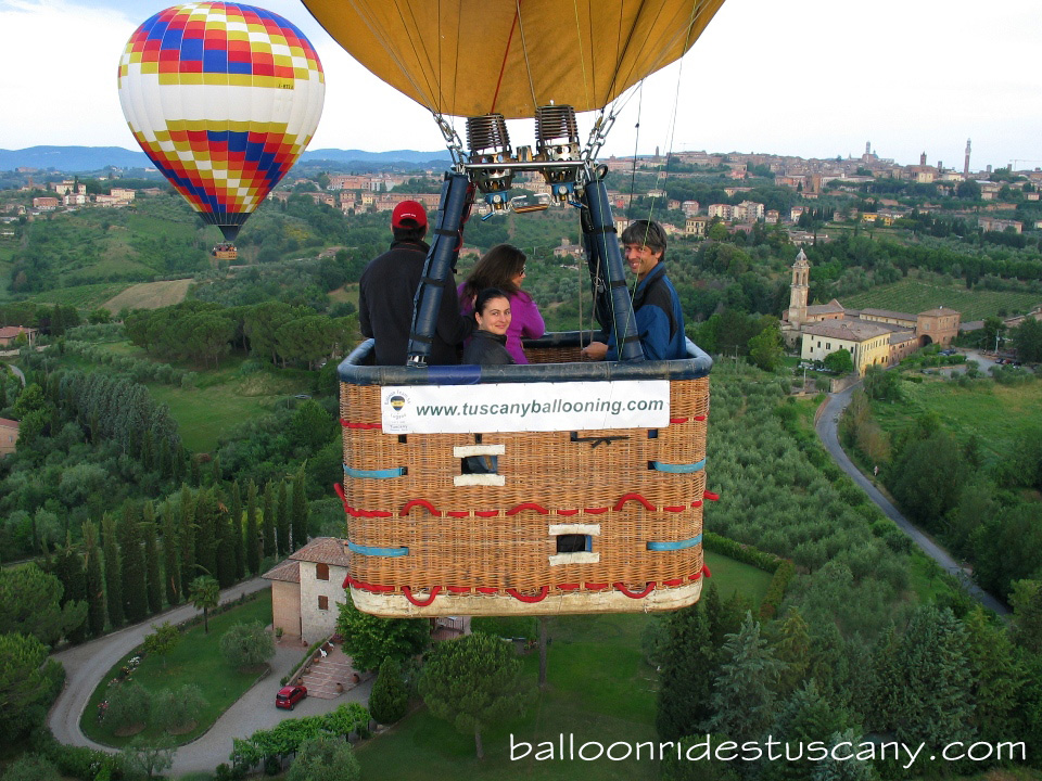Private Balloon ride over Siena